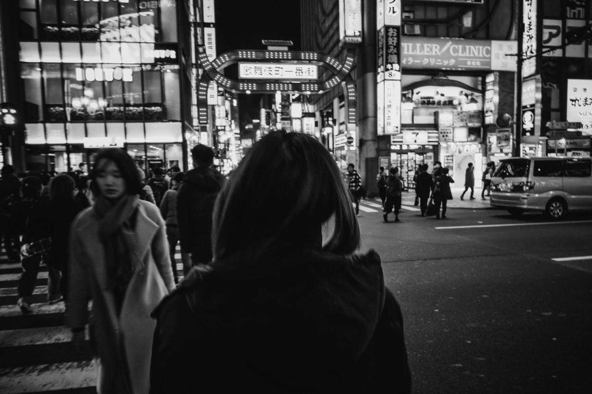 写真:写真展で展示した歌舞伎町スナップ
