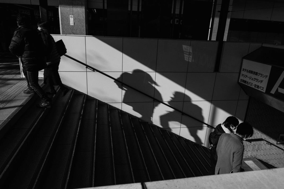 写真:写真展で展示した京都駅のスナップ