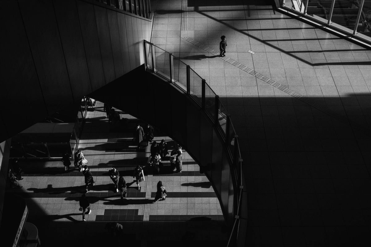 写真:写真展で展示した大阪駅の写真