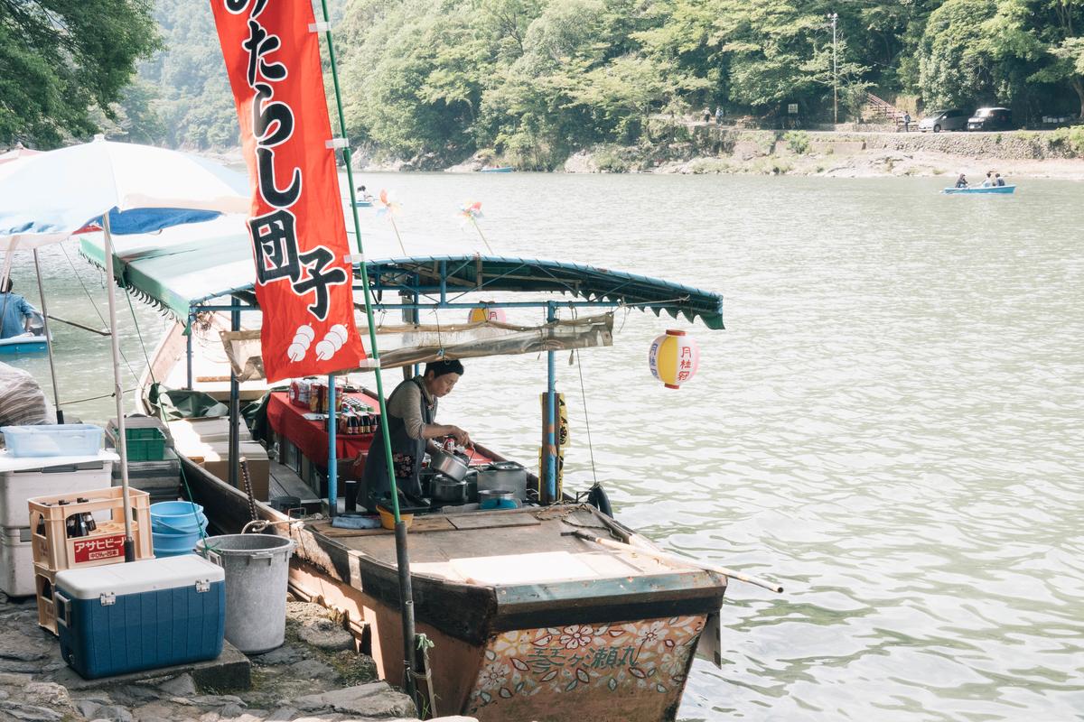 写真:琴ケ瀬茶屋の船上屋台