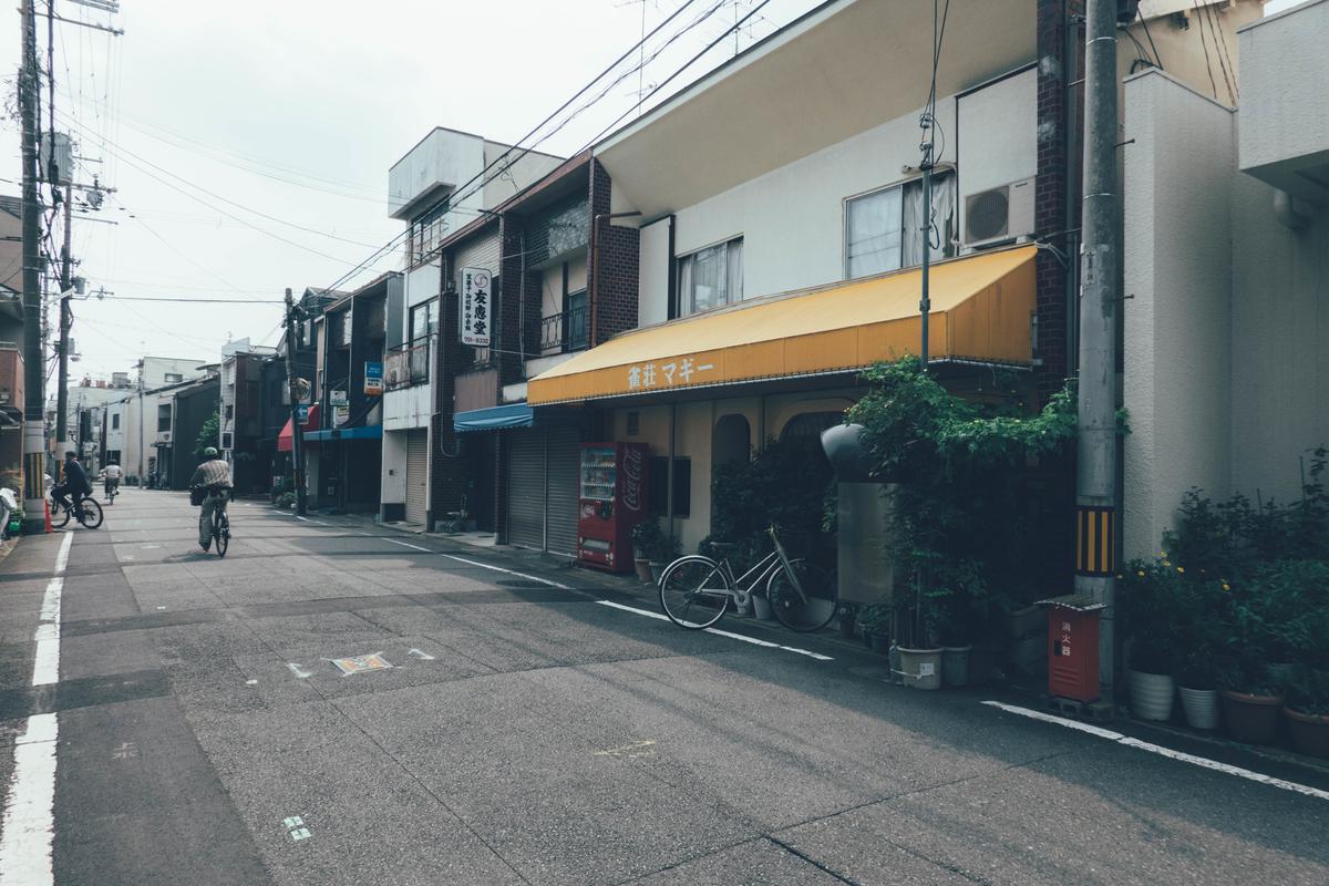 写真:一乗寺の街並み
