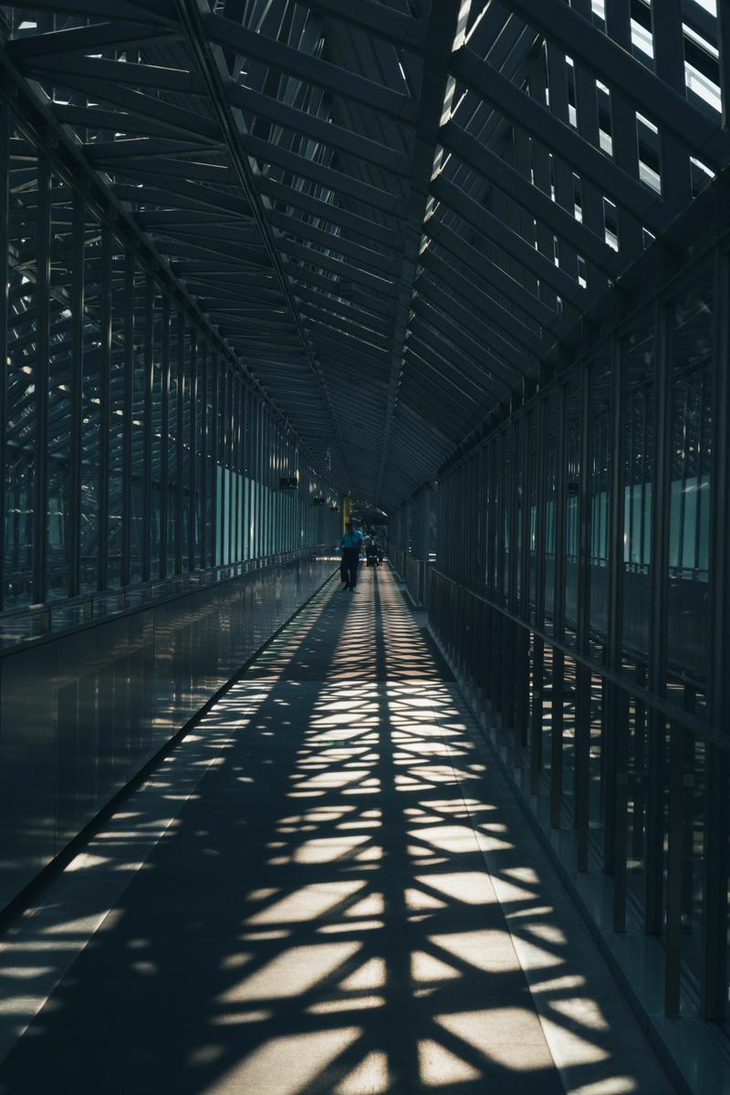 写真:京都駅の空中回廊