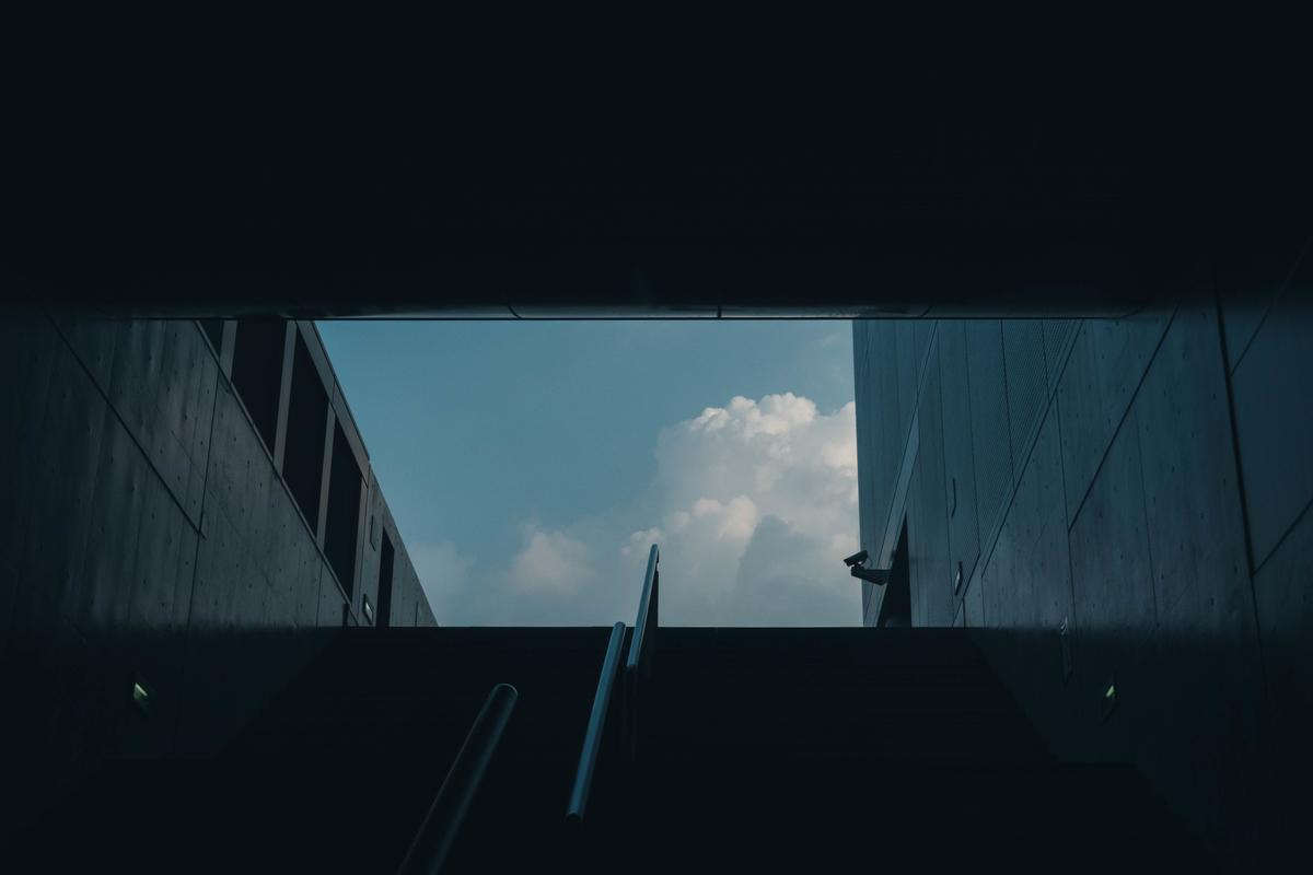 写真:京都駅から見えた入道雲