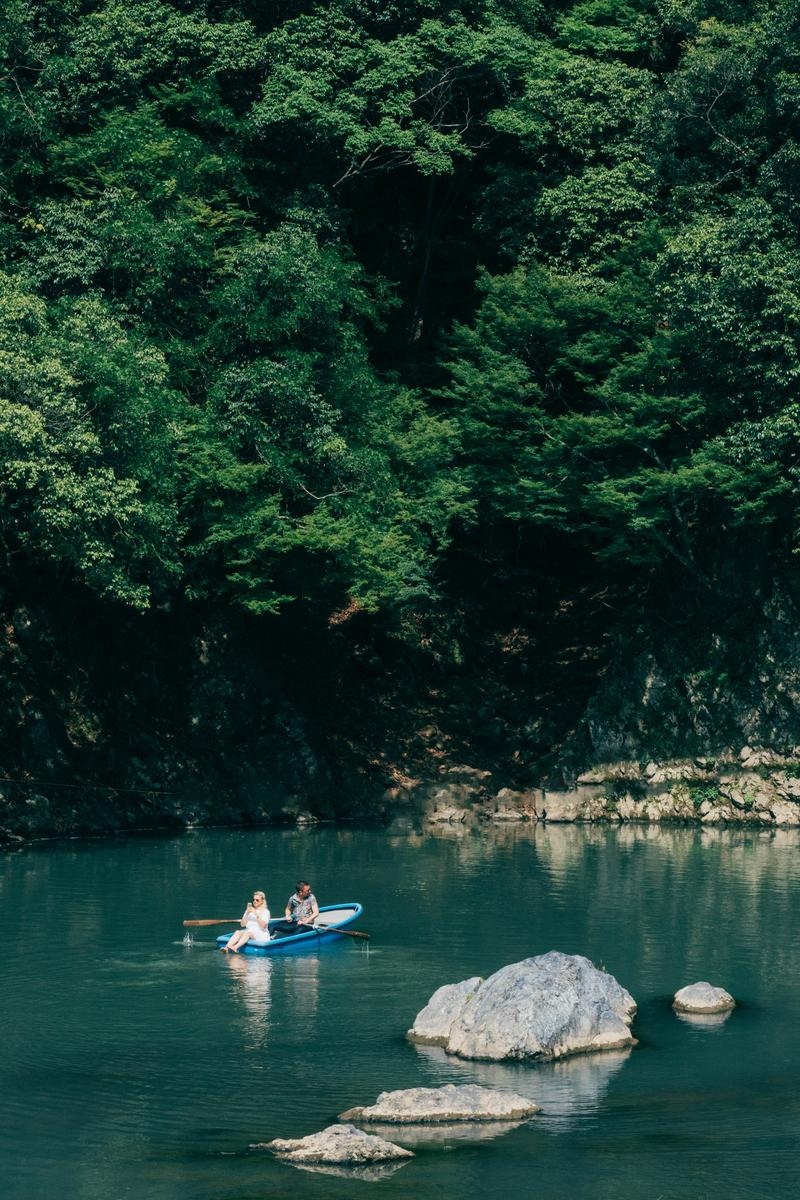 写真:嵐山の桂川