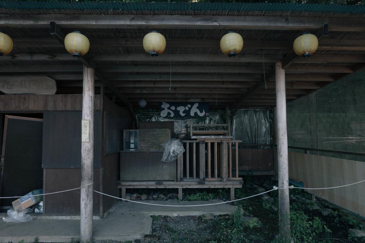 写真:桂川沿いのおでん屋