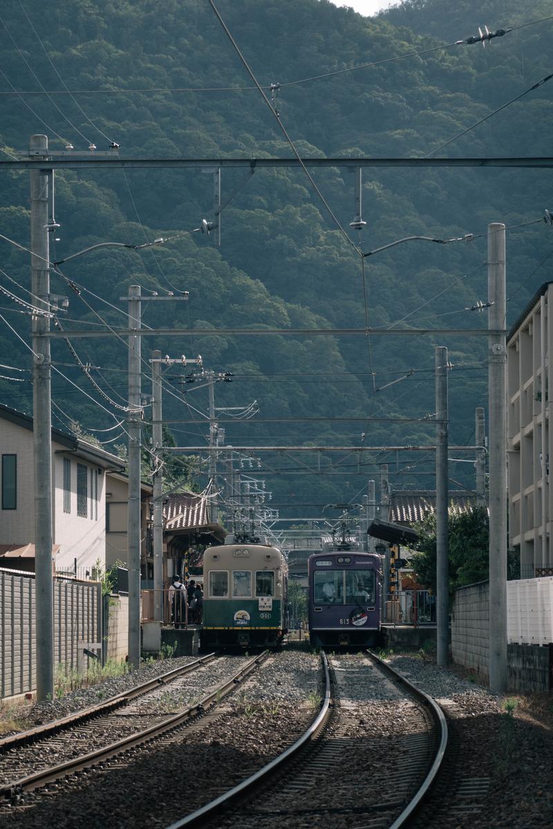 写真:嵐山電車