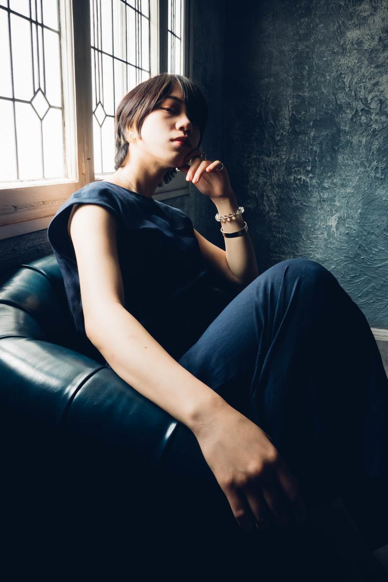 写真:スタジオシエルのソファーで撮った写真