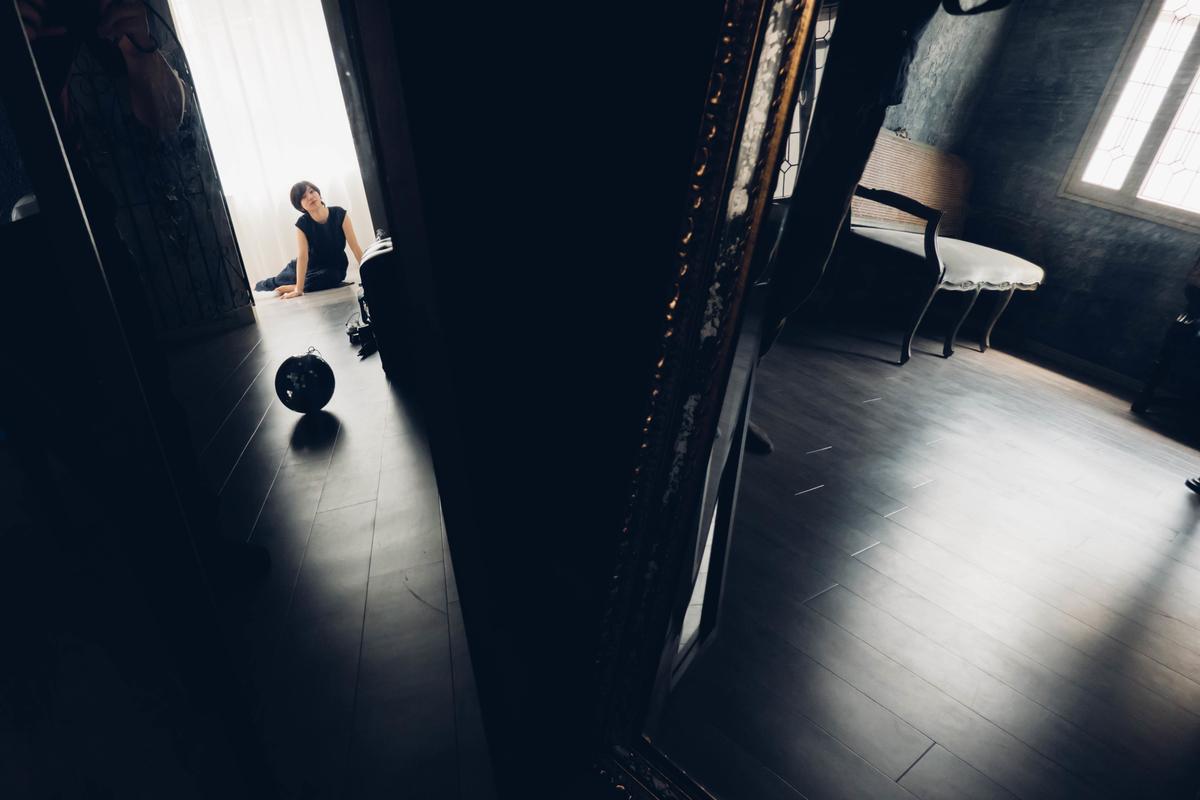 写真:スタジオシエルで鏡を使って撮った写真