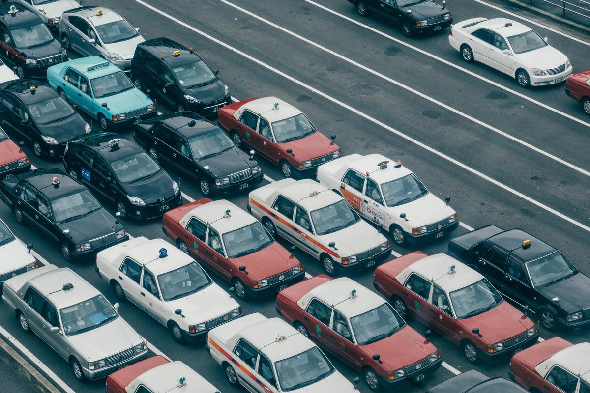 写真:京都駅のタクシー待ち