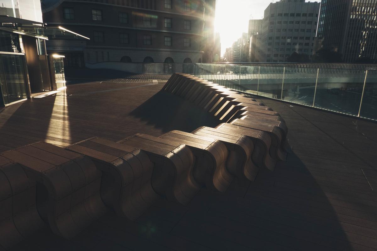 写真:梅田の休憩スペース