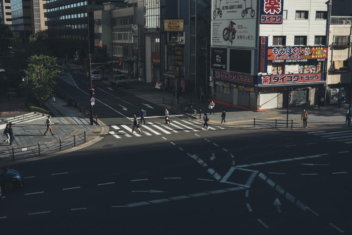 写真:梅田周辺の道路