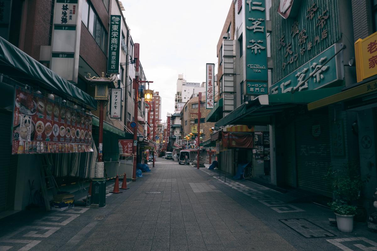 写真:中華街の朝