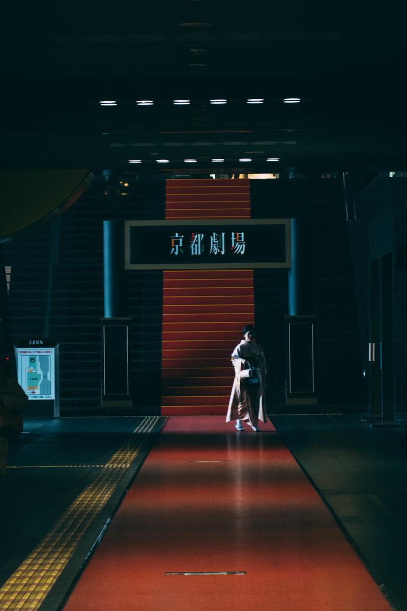 写真:京都劇場のレッドカーペット