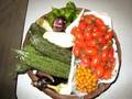 [野菜]070806 ミニトマト・マイクロミニトマト・ナス・ニガウリ・シシトウ