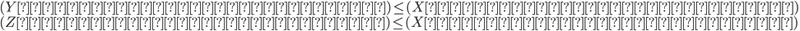 {  (Yのエントロピーレート) \leq (Xのエントロピーレート) \\  (Zのエントロピーレート) \leq (Xのエントロピーレート) }