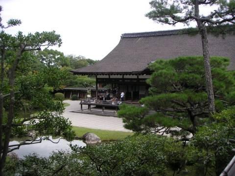 仁和寺 - 霊明殿より宸殿を望む