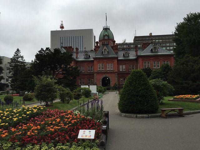 通り道の北海道庁旧本庁舎(赤レンガ庁舎)の画像