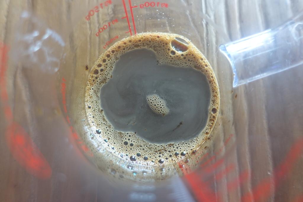 レンジで熱したインスタントコーヒー