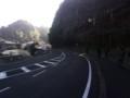 生目神社駐車場前の坂道