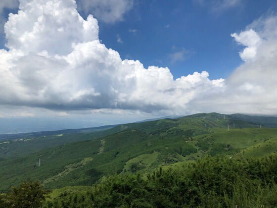 十国峠の頂上からの景色