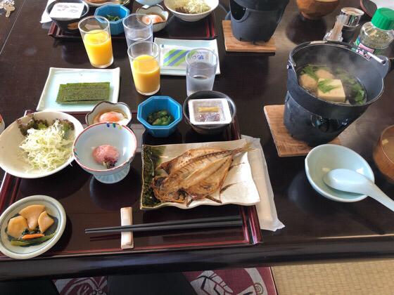 ベネフィットステーション熱海伊豆山の朝食