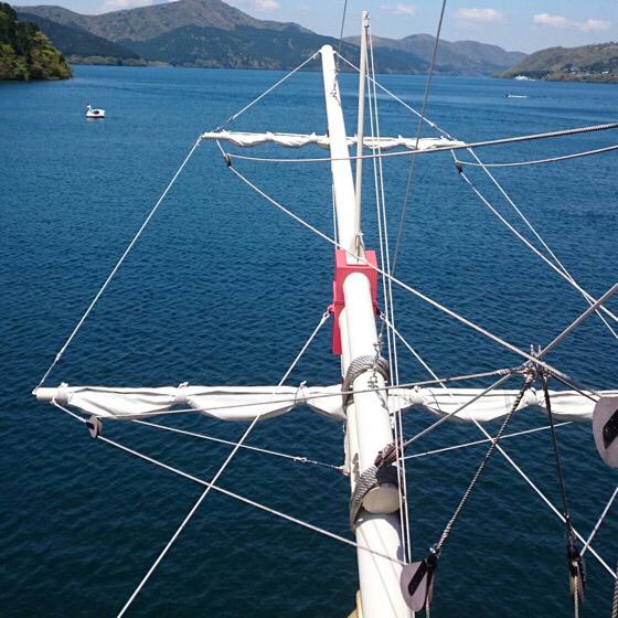 箱根の海賊船の先頭部分