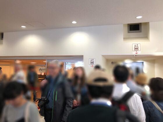 箱根の芦ノ湖海賊船のチケット売り場