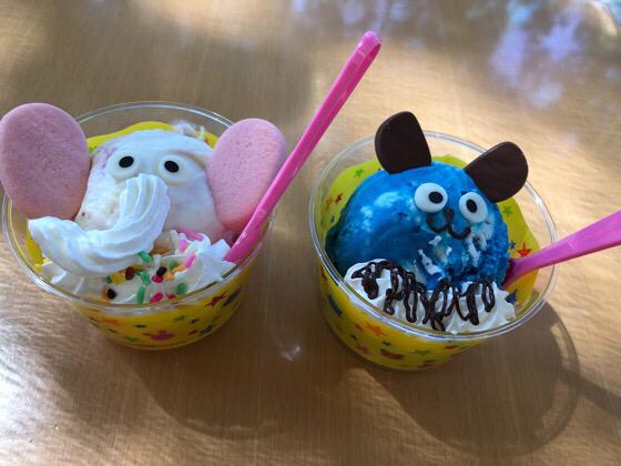 ズーラシアにあるサーティワンアイスクリームのオカピとゾウのアイス