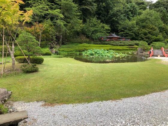 えさし藤原の郷の伽羅御所の庭