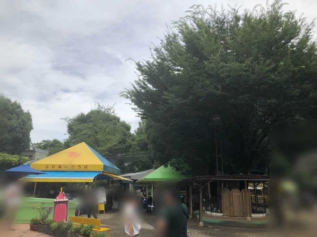 町田リス園の狭い園内