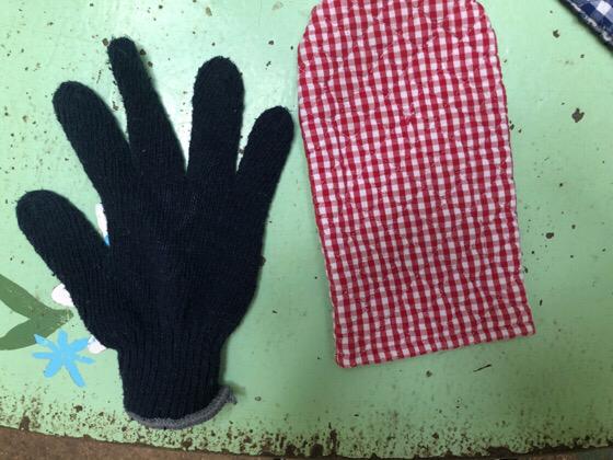 町田リス園のひまわりの種をあげる用の手袋