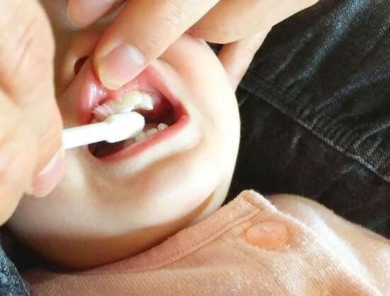 歯を磨く子ども