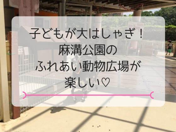 神奈川県相模原市にある麻溝公園のふれあい動物広場