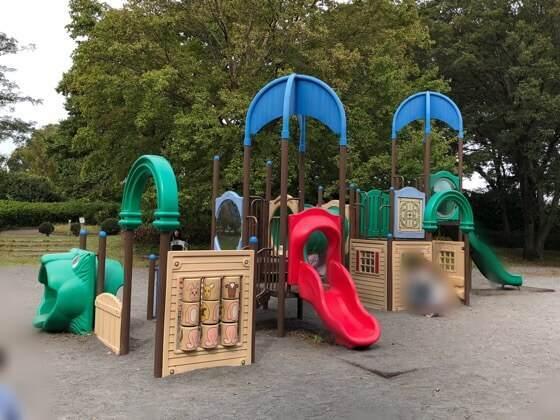 神奈川県相模原市にある相模原公園の幼児用のアスレチック・遊具