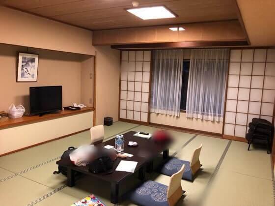 箱根にあるホテルおくゆもとの部屋