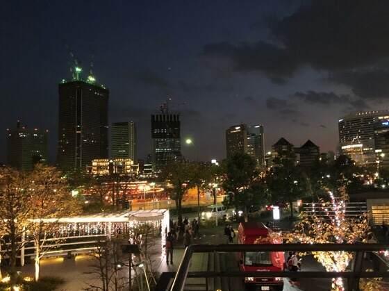 横浜みなとみらいのキレイな夜景とコスモワールド