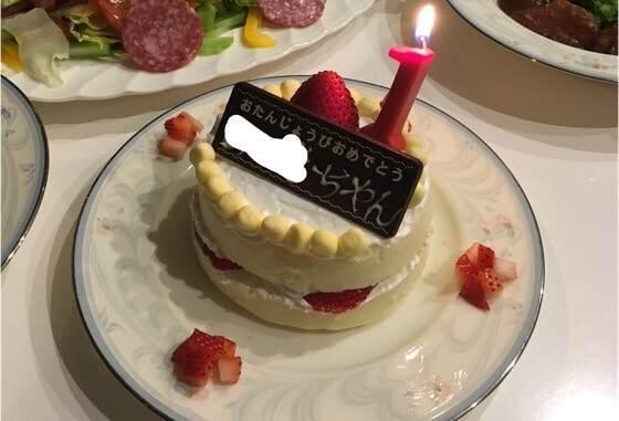1歳の誕生日に作った1歳からのケーキ