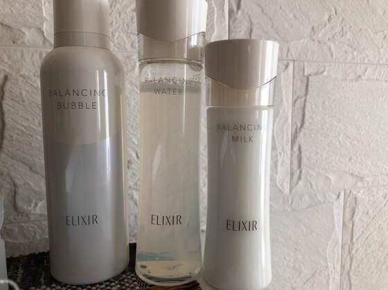 エリクシールルフレの洗顔と化粧水と乳液