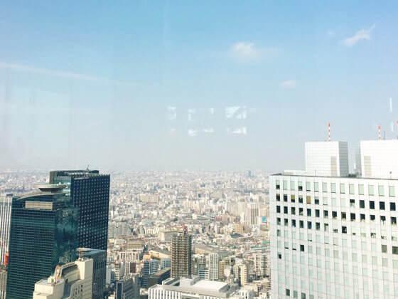 新宿都庁の展望台にあるグッドビューから見える景色