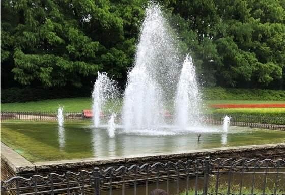 相模原市にある相模原公園の噴水