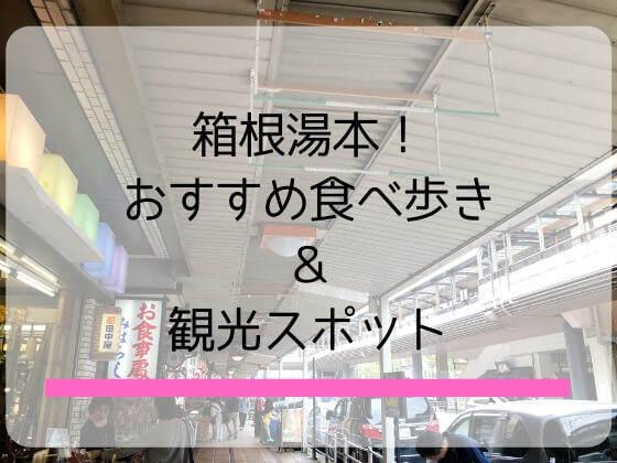 箱根湯本観光で子連れもカップルも楽しめる食べ歩きグルメと観光スポットを紹介