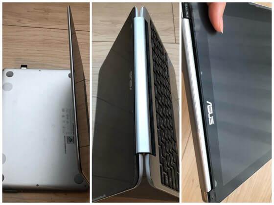 chromebook Flip C101PAとが360度回転している