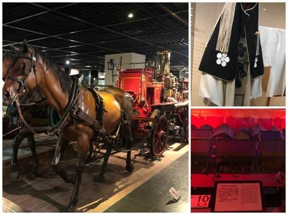 四谷にある消防博物館の4階と5階の展示
