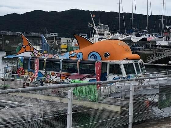 伊東マリンタウンで乗れる遊覧船のはるひら丸イルカ号