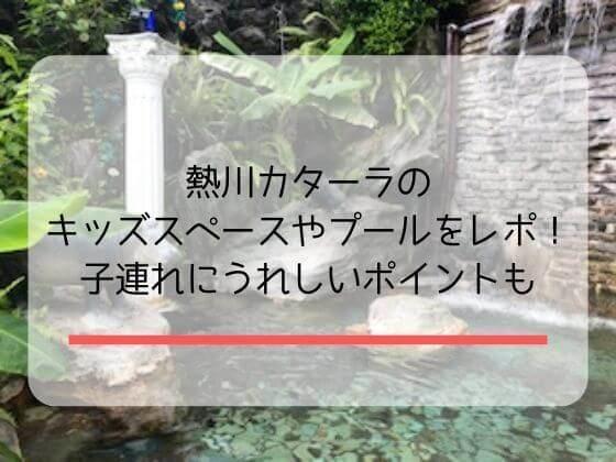伊豆熱川温泉ホテルカターラのプールやスパやレストランのレポ