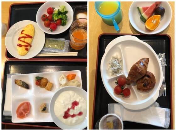 伊豆熱川温泉ホテルカターラの朝食バイキングでとったもの