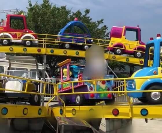 伊豆ぐらんぱる公園のアトラクションのワーキングカーズ