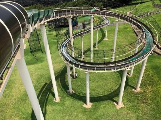 伊豆ぐらんぱる公園の110m見晴らしスライダー