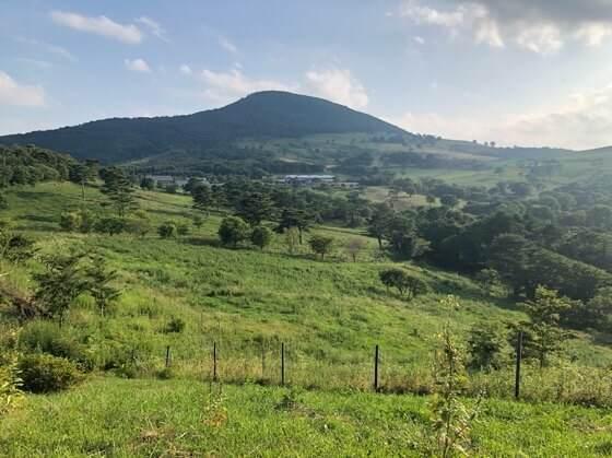 岩手県一関市にある大東ふるさと分校からみた大自然の景色