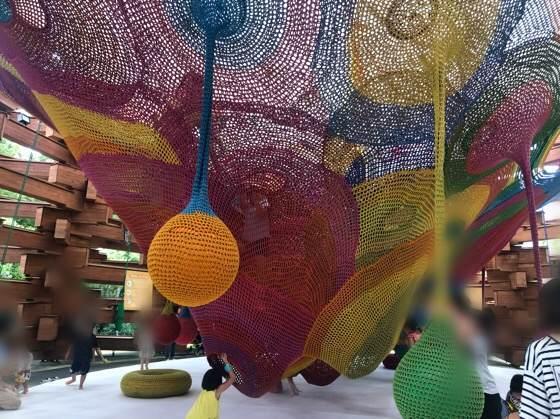 箱根彫刻の森美術館のネットの森